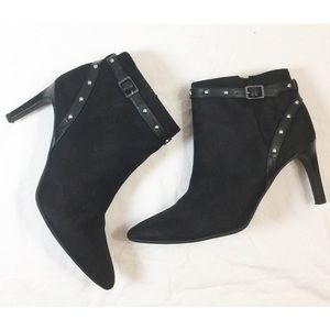 Sam & Libby Black Amy Studded Booties